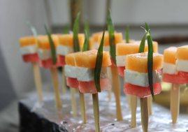 Melonen Feta Spieße