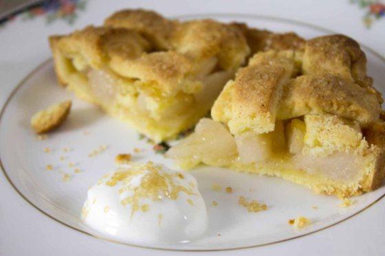 Birnen Zimt Pie