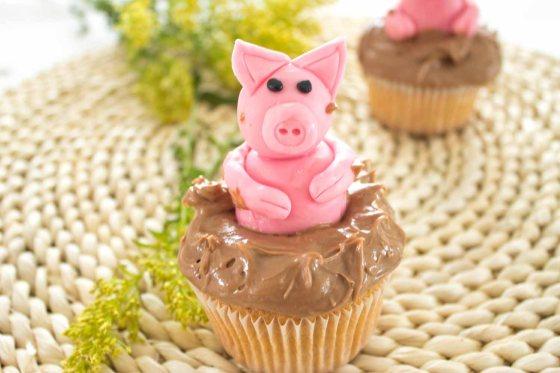 """""""Schweinchen im Schlamm"""" Cupcakes"""