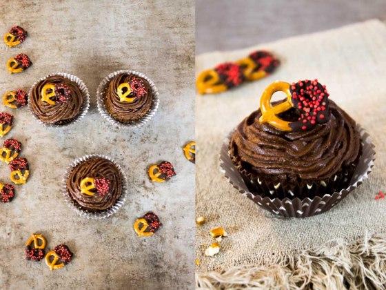 Salzbrezel Cupcakes